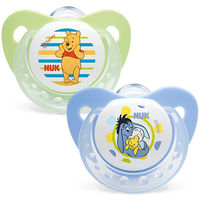 NUK 2 Sucettes Silicone Trendline Winnie Taille 3 +18mois