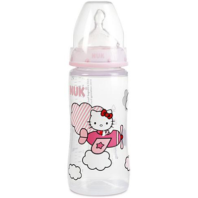 NUK First Choice+ Biberon Hello Kitty 300ml Tétine Taille 2 +6mois