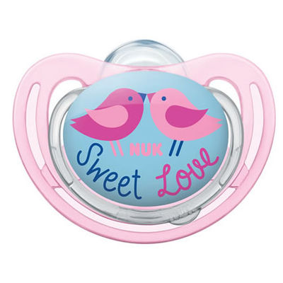 NUK Sucette Silicone Freestyle Fille Taille 3 +18mois