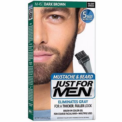 JUST FOR MEN Coloration Barbe Châtain Foncé M45
