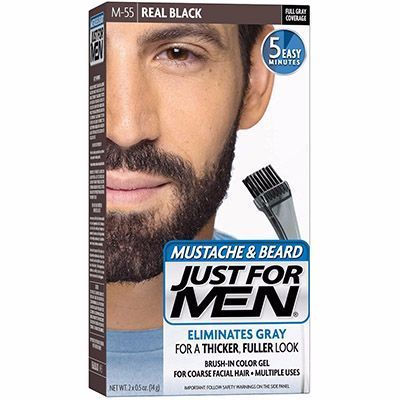 86b29fcb1e5c JUST FOR MEN Coloration Barbe Noir Naturel M55 pas cher - parapharmacie  ParaSelection