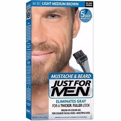 JUST FOR MEN Coloration Barbe Châtain Moyen Clair M30