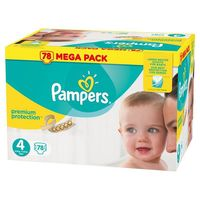 PAMPERS Premium Protection 8-16kg Taille 4 - 78 couches