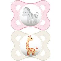 MAM Sucette Silicone 0-6mois Animaux Fille x2