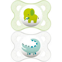 MAM Sucette Silicone 0-6mois Animaux x2