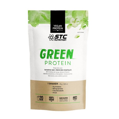 STC NUTRITION Vegan Green Protein Smoothie Pomme Pêche 500g