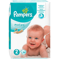 PAMPERS ProCare Premium Protection 3-6kg Taille 2 - 36 Couches