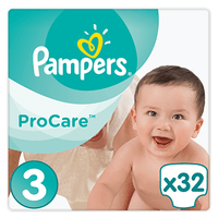 PAMPERS ProCare Premium Protection 5-9kg Taille 3 - 32 Couches
