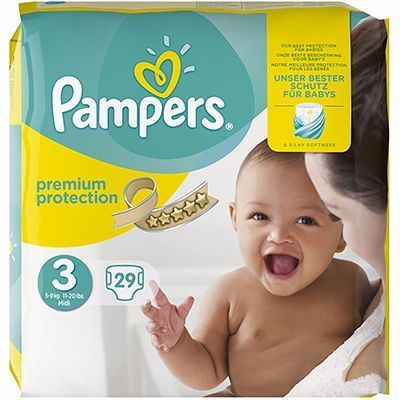 PAMPERS Premium Protection 4-9kg Taille 3 - 29 couches