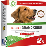 VETOBIOL Collier Grand Chien +15kg 75cm Marron