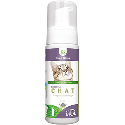 VETOBIOL Mousse Chat Shampooing Sec 100ml