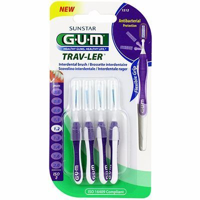 GUM Travler Brossettes Interdentaires 1512 1,2mm x4