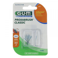 GUM 412 Proxabrush Classic Recharges Brossettes Interdentaires 0,9mm