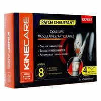 KINECARE Patch Chauffant Genou Coude 7x9cm x4
