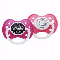 DODIE Sucette Anatomique Silicone +6mois x2 Girly
