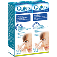 QUIES Optik Solution Multifonctions Lentilles Lot de 2 x 360ml