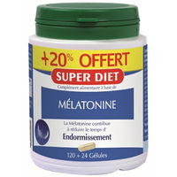 SUPER DIET Mélatonine 120 gélules + 24 OFFERTES