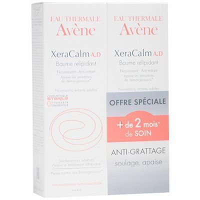 AVENE Xeracalm AD Baume Relipidant Lot de 2 x 200ml