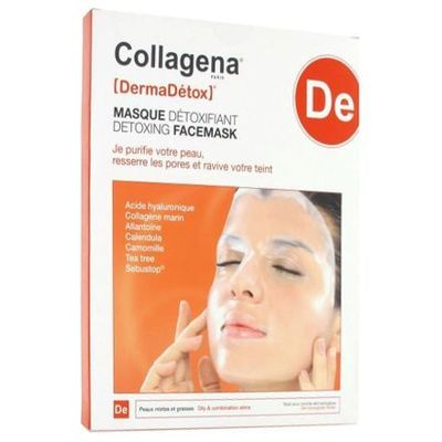 COLLAGENA DermaDetox Masque Hydrogel Détoxifiant x5