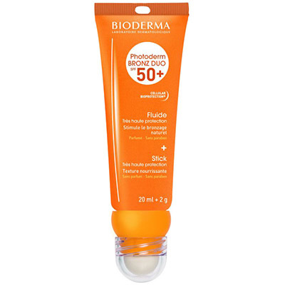 BIODERMA Photoderm Bronz Duo SPF50+ Fluide 20ml + Stick 2g