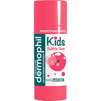 DERMOPHIL INDIEN Kids Stick Lèvres 100% Naturel Bubble-gum 4g