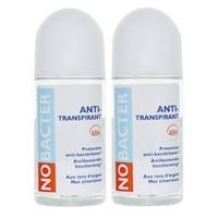 NOBACTER Anti-transpirant Lot de 2 x 50ml