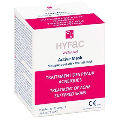 HYFAC Woman Active Mask Masque Peel-Off 15 Sachets x 5ml