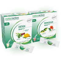 NATURACTIVE Détox 15 sticks + Minceur 15 sticks