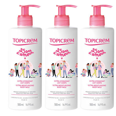 TOPICREM Ultra-hydratant Lait Corps Lot de 3 x 500ml