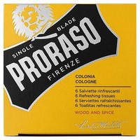 PRORASO 6 Serviettes Rafraîchissantes Wood and Spice Cologne