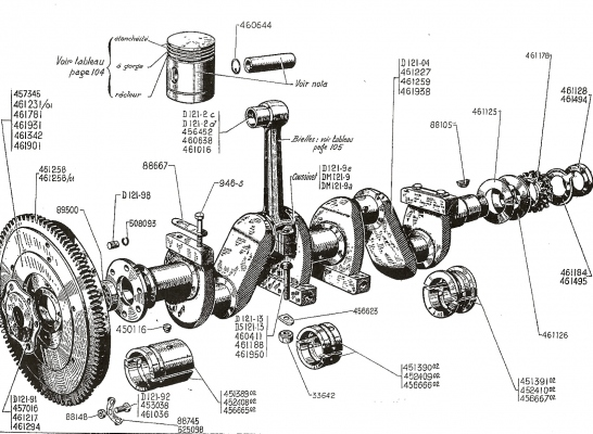 crankshaft connecting rods and pistons