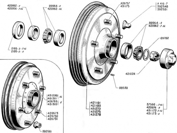 breakdrum rear and bearings