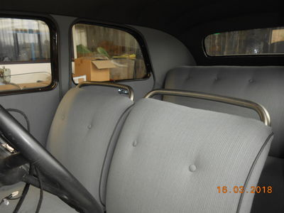 seat cover grey 11BL (1936 to 1947) handmade in france ready to use (tube frame front seats)