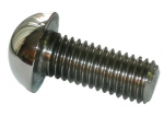 bumper bolt round face stainless steel