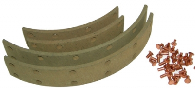 rear brake facing 10 inch (with rivets)