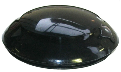 black steering wheel cap