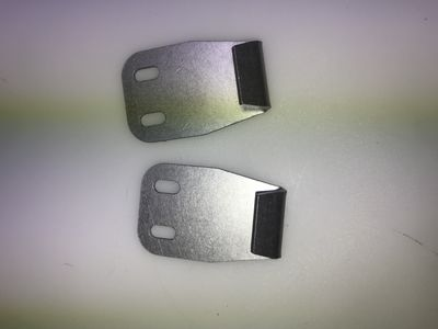 clip for bonnet fastener for two parts