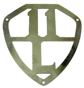 emblem for rear wing 11BL stainless steel