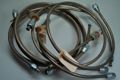brake pipe assembly copper (before 1952)