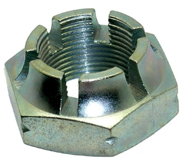 slotted outer left driveshaft nut left-hand thread