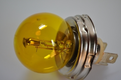 ampoule 6V phare 40/45w jaune a 3 broches
