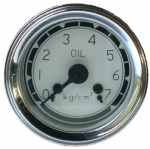 oil pressure gauge white