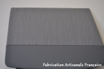door carpeting striped grey with artificial leather 11BL 1952 to 1957, ready to use