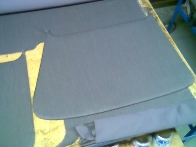 door carpeting striped grey 11BL 1950 to 1952, ready to use
