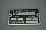 plate for serial number 11B