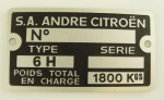 plate for serial number 15CV hydro