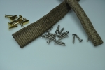 bonnet and grille beading complete kit like original with stainless steel screws and brass rivets