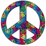 T-SHIRTS ORIGINAUX Hippie Peace and Love Rasta