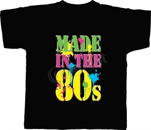T-shirt homme manches courtes - Made in the 80's - Années 1980 Disco néon - 11371