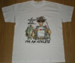 T-shirt homme manches courtes - Humour Pêcheur - I'm an athlete - Pêche / fishing - 5199 - blanc